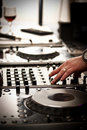 DJ play music Stock Images