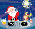 DJ Santa Claus Stock Images
