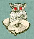 Dj tarsier with red eyes Royalty Free Stock Photos