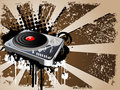 DJ theme design Stock Images
