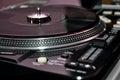 DJ turntable controls Royalty Free Stock Photo