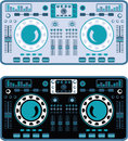 DJ Turntables Vector Royalty Free Stock Photo