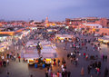 Djeema El Fna night market, Marrakech Royalty Free Stock Image