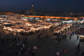 Djeema El Fna at night, Marrakech Royalty Free Stock Photography