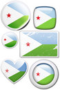 Djibouti - Set of stickers and buttons Royalty Free Stock Photo