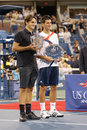 Djokovic & Federer at US Open 2007 (108) Stock Images
