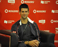 Djokovic Rogers Cup 2012 Royalty Free Stock Photo