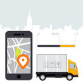 Dlivery of cargo - location tracker app and mobile