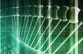 Dna background with a science helix strand Stock Photo