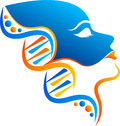 Dna face logo illustration art of a with isolated background Stock Photography