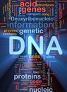DNA genetic background concept glowing Stock Photos