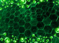 Dna helix molecular background green Stock Photo