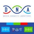 DNA logo white