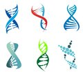 Dna and molecules molecule symbols set for chemistry or biology concept design editable vector illustration Stock Photo