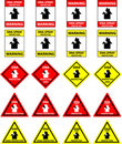 DNA spray protection signs - vector Royalty Free Stock Photography