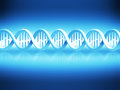 Dna strand abstract background with blue Stock Images