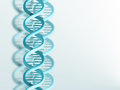 Dna strand blue on a light background Stock Photo