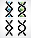 DNA strand, helix Royalty Free Stock Photo