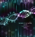 DNA Structure, Spiral, Science Template, Medical Background