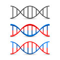 DNA symbol set art Royalty Free Stock Photo