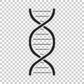Dna vector icon. Medecine molecule flat illustration