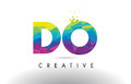 DO D O Colorful Letter Origami Triangles Design Vector.