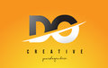 DO D O Letter Modern Logo Design with Yellow Background and Swoo