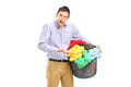 Do I have to clean all this clothes? Stock Photography
