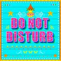 Do no disturb poster illustration of india truck paint style Stock Photo