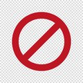 No parking sign.Stop do not enter vector icon.