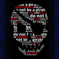 Do not be a pirate concept of internet piracy stolen software may steal your identity Royalty Free Stock Images