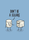 Do not be a square poster. Humor