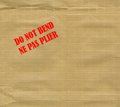 Do not bend ne pas plier international english and french warning stamped over envelope Stock Photo