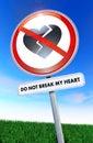 Do not break my heart Stock Images