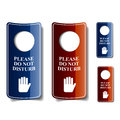 Do not disturb door hangers illustration for the web Royalty Free Stock Photo