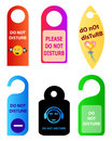 Do not disturb door tag illustrations Royalty Free Stock Photo