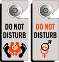 Do not disturb logo Stock Photo