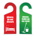 Do not disturb and make up my room cards Royalty Free Stock Photo