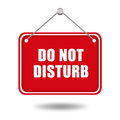 Do not disturb red signboard Stock Photo