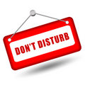 Do not disturb sign Royalty Free Stock Photos