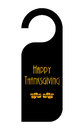 Do not disturb sign for thanksgiving day Royalty Free Stock Images