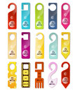 Do not disturb signs set Stock Images