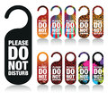 Do not disturb signs a set of please Royalty Free Stock Photo