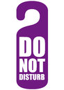 Do not disturb vector illustration Stock Photos