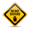 Do not disturb vector sign Royalty Free Stock Photography