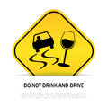 Do not drink and drive sign Royalty Free Stock Photography