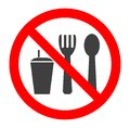 Do not eat and drink symbol. No eating or drinking, prohibition sign.Vector illustration.