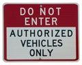 Do Not Enter Royalty Free Stock Photo