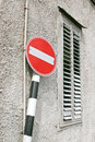 Do Not Enter Road Sign Royalty Free Stock Photo
