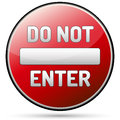 Do not enter traffic board - one way Royalty Free Stock Photo